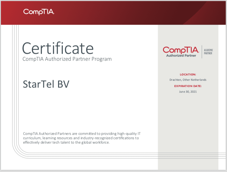 Accreditaties Comptia Authorized Partner
